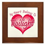 Heart Belongs Twilight Framed Tile