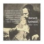 Rationalist Baruch Spinoza Tile Coaster