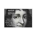 Philosopher Baruch Spinoza Rectangle Magnet (100 p