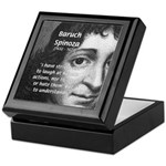 Philosopher Baruch Spinoza Keepsake Box