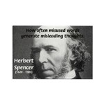 Evolutionist Herbert Spencer Rectangle Magnet