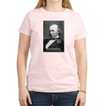 Evolutionist Herbert Spencer Women's Pink T-Shirt