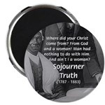 """Lincoln with Sojourner Truth 2.25"""" Magnet (100 pac"""