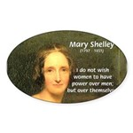 Novelist Mary Shelley Oval Sticker