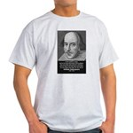 Playwright William Shakespeare Ash Grey T-Shirt