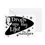 Drugs are my life Greeting Cards (Pk of 10)