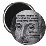 "William Shakespeare 2.25"" Magnet (100 pack)"