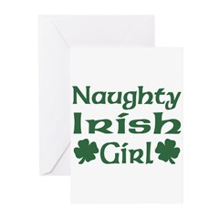 Naughty Irish Girl Greeting Cards (Pk of 20)