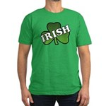 Green Shamrock Shamrock Men's Fitted T-Shirt (dark