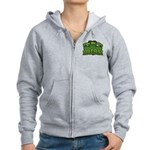 Kiss Me I'm Irish Shamrock Women's Zip Hoodie