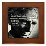 Philosopher Bertrand Russell Framed Tile