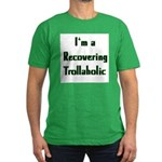 Recovering Trollaholic Men's Fitted T-Shirt (dark)