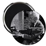"""Philosophy Bertrand Russell 2.25"""" Magnet (100 pack"""