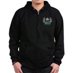 Irish Shamrock Celtic Cross Zip Hoodie (dark)