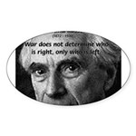Bertrand Russell Oval Sticker