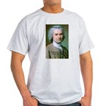 French Philosopher Rousseau Ash Grey T-Shirt