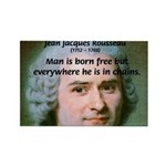Philosopher Rousseau Rectangle Magnet