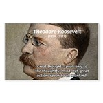 President Theodore Roosevelt Rectangle Sticker
