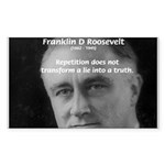 Franklin D. Roosevelt Rectangle Sticker