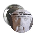 "Greek Mathematician Pythagoras 2.25"" Button (10 pa"