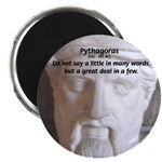 "Greek Mathematician Pythagoras 2.25"" Magnet (10 pa"