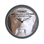 Greek Mathematician Pythagoras Wall Clock