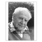 Philosophy Karl Popper Small Poster