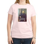 Louis Pasteur: Science Humanity Women's Pink T-Shi