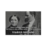 Nietzsche Love Madness Reason Rectangle Magnet