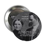 "Man and Woman: Nietzsche 2.25"" Button (100 pack)"
