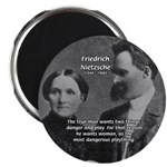 "Man and Woman: Nietzsche 2.25"" Magnet (100 pack)"