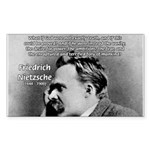 Vanity God and Nietzsche Rectangle Sticker