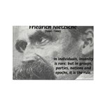 Group Insanity: Nietzsche Rectangle Magnet (10 pac