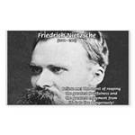 Nietzsche: Live Dangerously Rectangle Sticker
