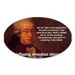 Mozart's Work: Symphony, Piano Oval Sticker