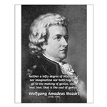 Music, Genius and Mozart Small Poster