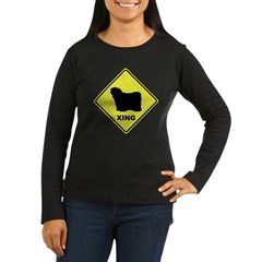 Puli Crossing Women's Long Sleeve Dark T-Shirt