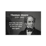 Irish Poet: Thomas Moore Rectangle Magnet (10 pack