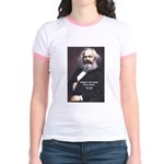 Karl Marx Religion Opiate Masses Jr. Ringer T-Shir