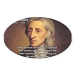 Change and John Locke Oval Sticker