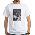 Leibniz Origins of Calculus White T-Shirt