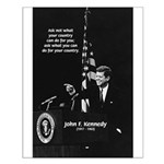 Famous Quote from JFK Small Poster