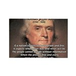 Media Thomas Jefferson Rectangle Magnet (10 pack)