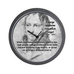 History Lessons Georg Hegel Wall Clock