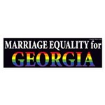 Marriage Equality for all the people of Georgia rainbow bumper sticker