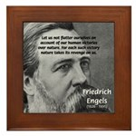 Nature versus Humanity: Engels Framed Tile