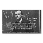 Paul Dirac Quantum Theory Rectangle Sticker