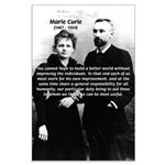 Humanity Marie Curie Large Poster