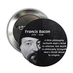 "Philosopher Francis Bacon 2.25"" Button (100 pack)"