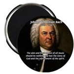 "Glory God Music J. S. Bach 2.25"" Magnet (100 pack)"